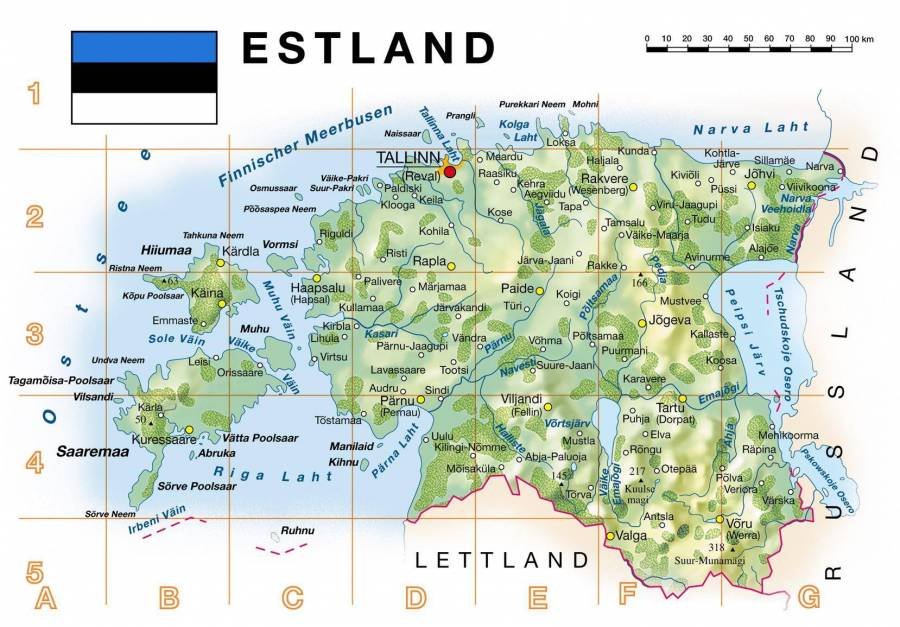 Public Estland Landkarte Jpg Tallinn